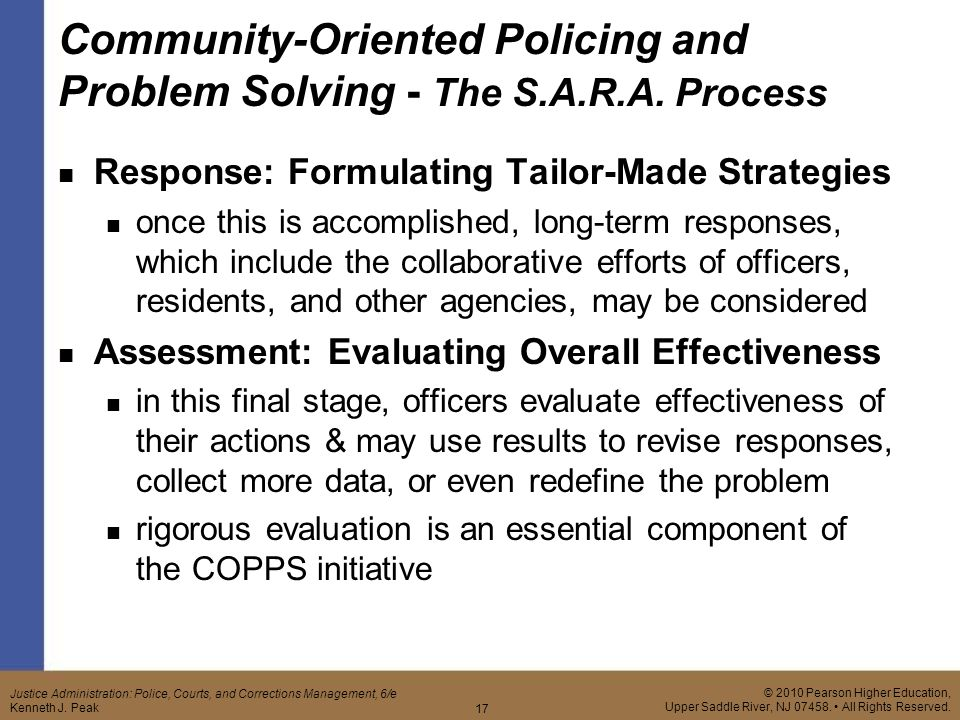 The Use and Effectiveness of Problem-Oriented Policing