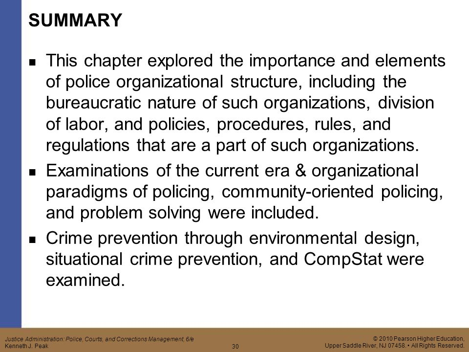elements of police organization Community oriented policing & problem solving to some extent, this expression rings true there are just not enough police officers to be in all places community policing is a policing philosophy that promotes and supports organizational strategies to address the causes and reduce.