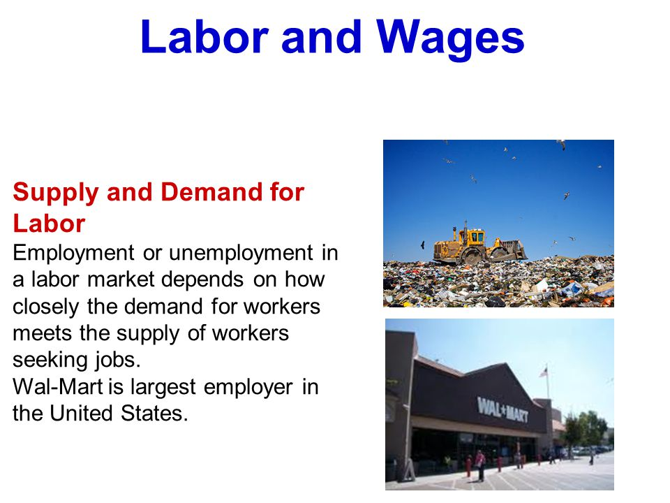 Labor and Wages Supply and Demand for Labor