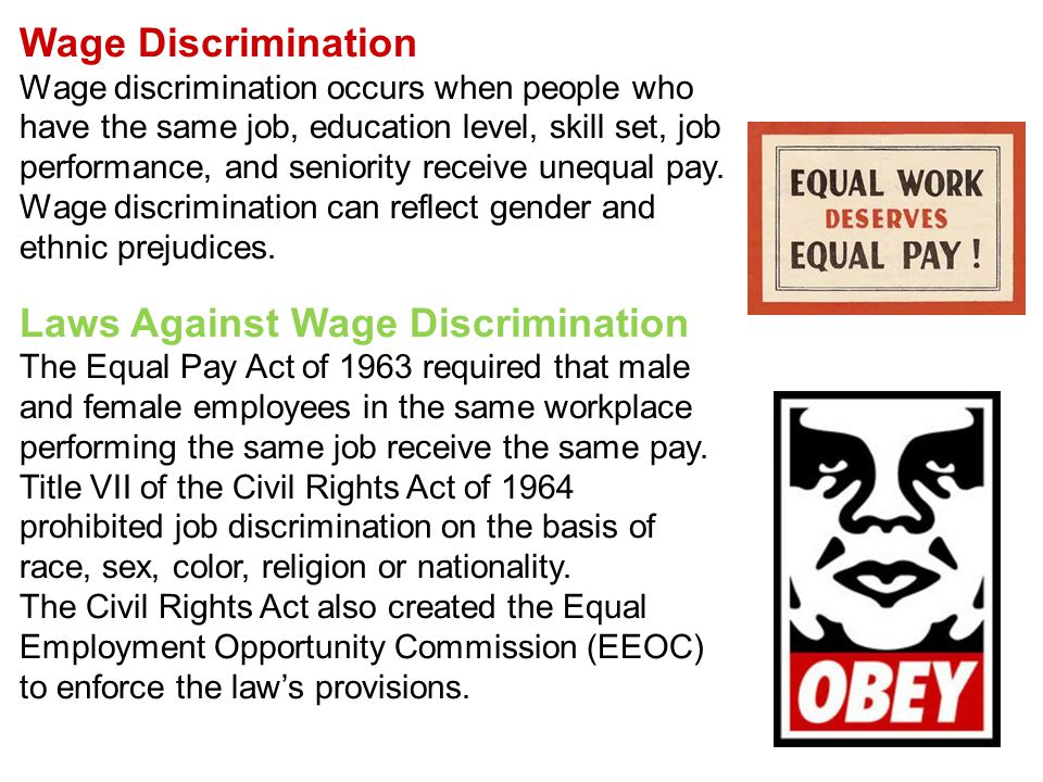 Laws Against Wage Discrimination