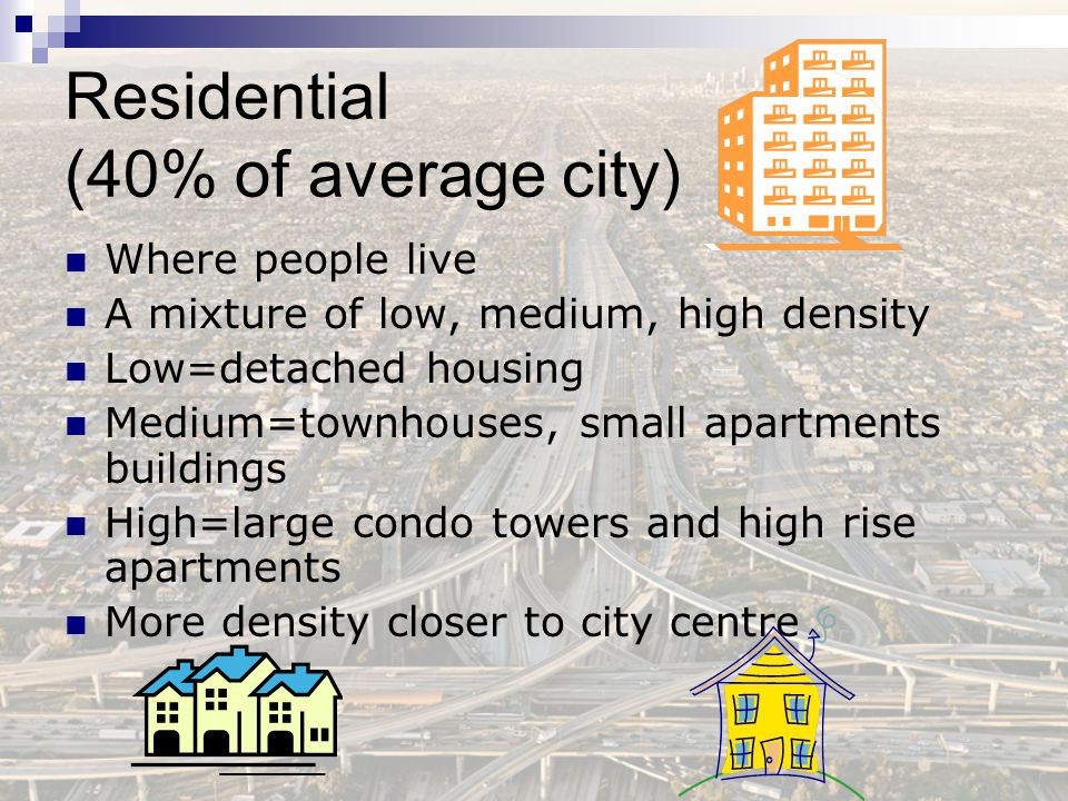 Residential (40% of average city)