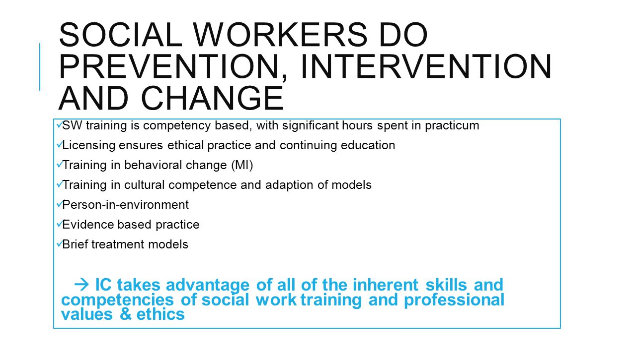 social workers intervention