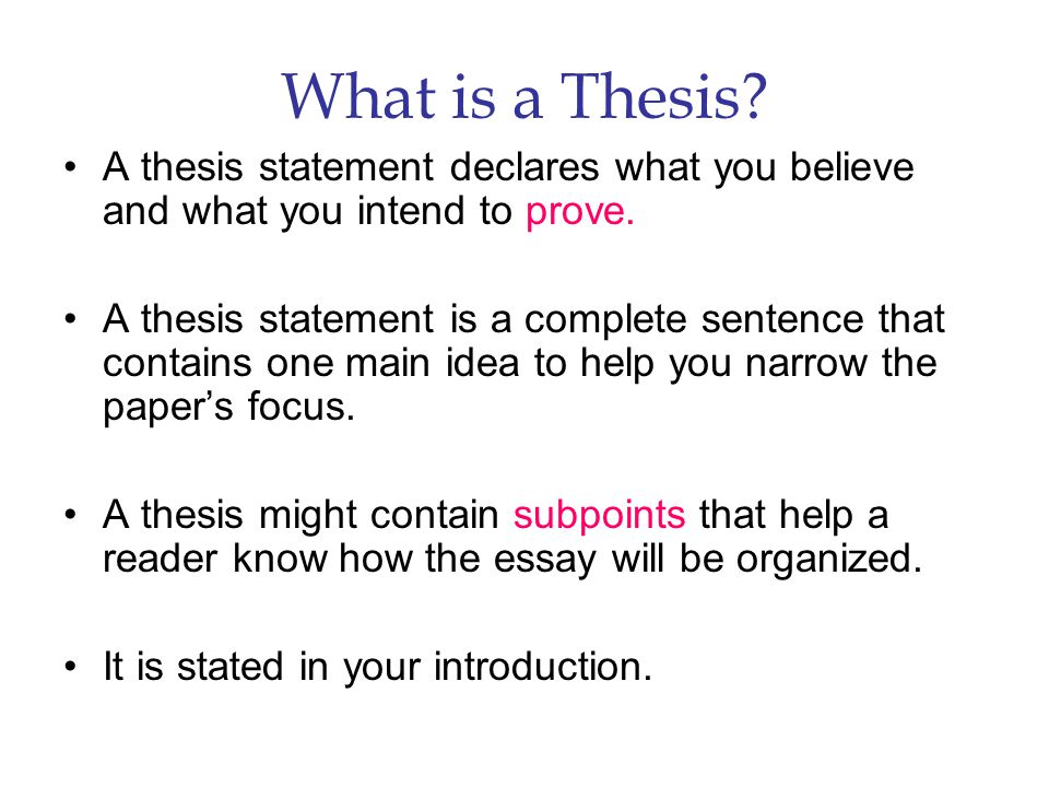 I Need A Good Thesis Statement For A Research Paper
