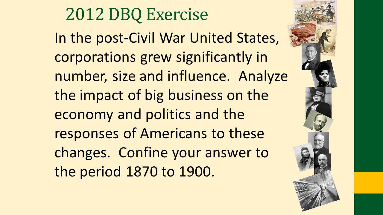 2012 DBQ Exercise