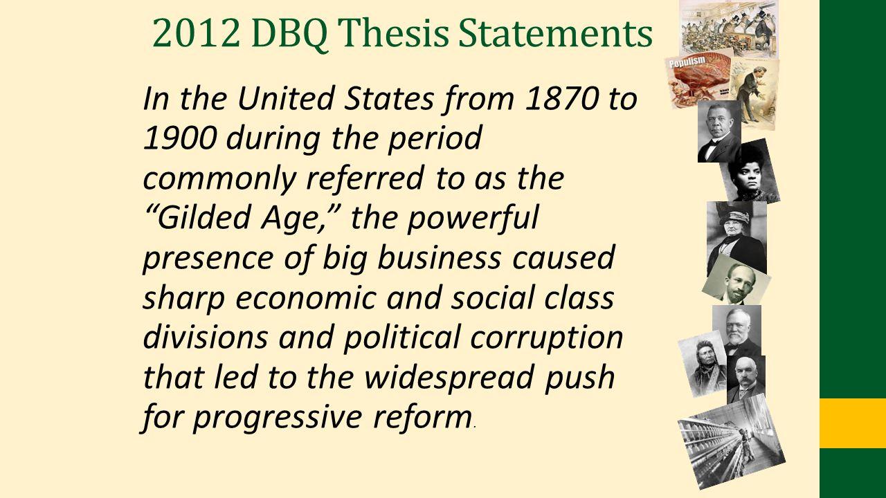 2012 DBQ Thesis Statements