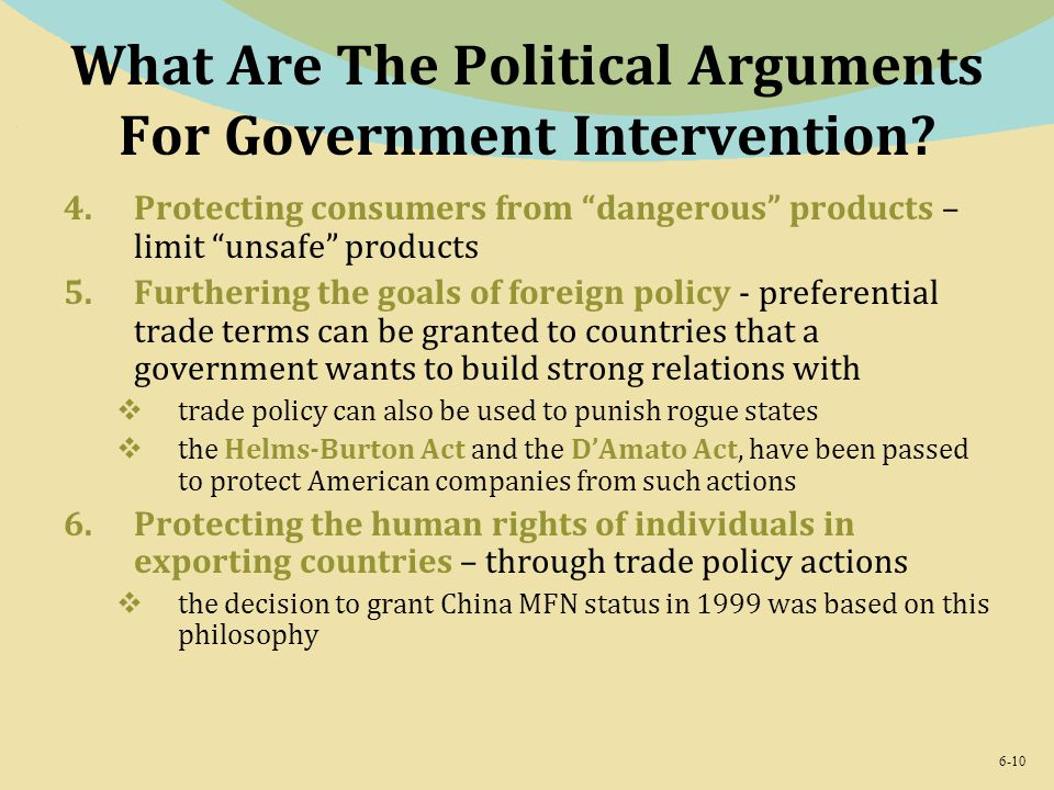 What Are The Political Arguments For Government Intervention