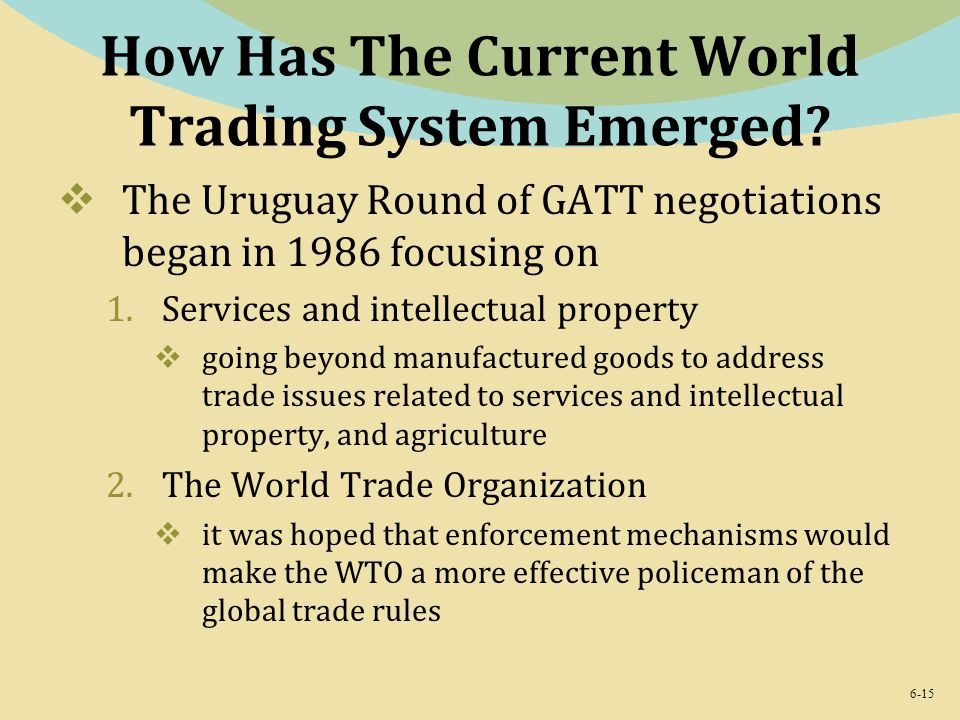 Current world trading system emerged