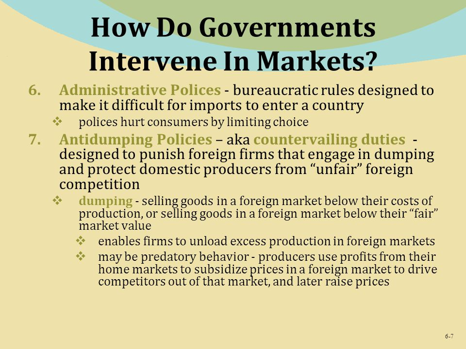 How Do Governments Intervene In Markets