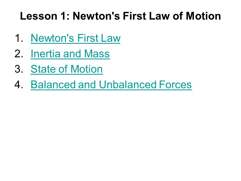 newton 39 s first law definition. lesson 1: newton s first law of motion 39 definition