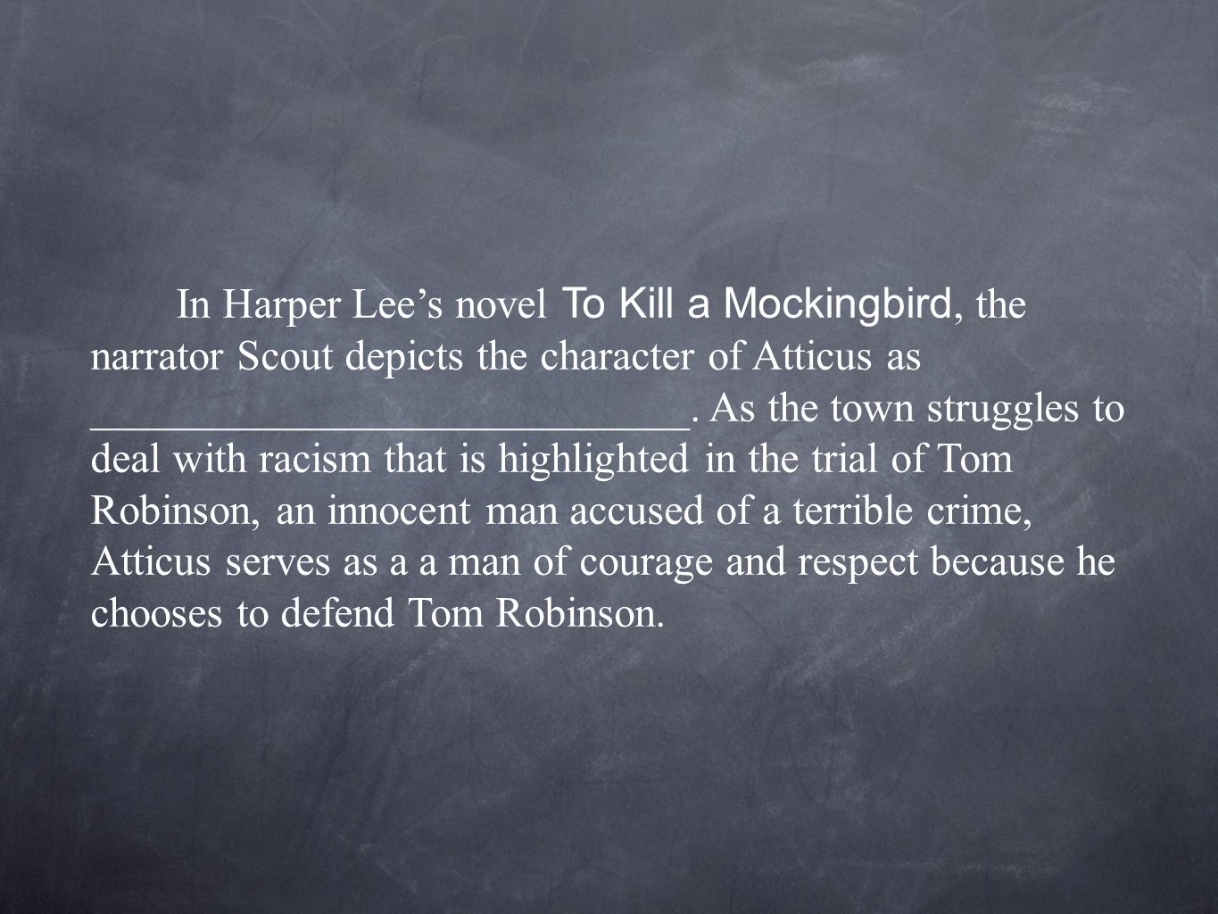 "an analysis of the character atticus in the novel to kill a mockingbird by harper lee Why 'to kill a mockingbird' matters what harper lee's book and the iconic american film mean to us today by tom santopietro 305 pp st martin's press $2699 ""to kill a mockingbird ."