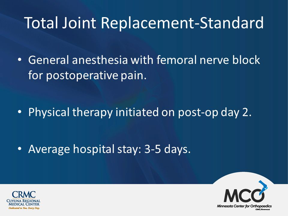 rapid recovery in total joint replacement- a rural hospital, Muscles
