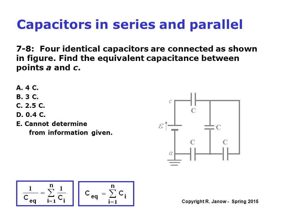 how to add capacitors in series