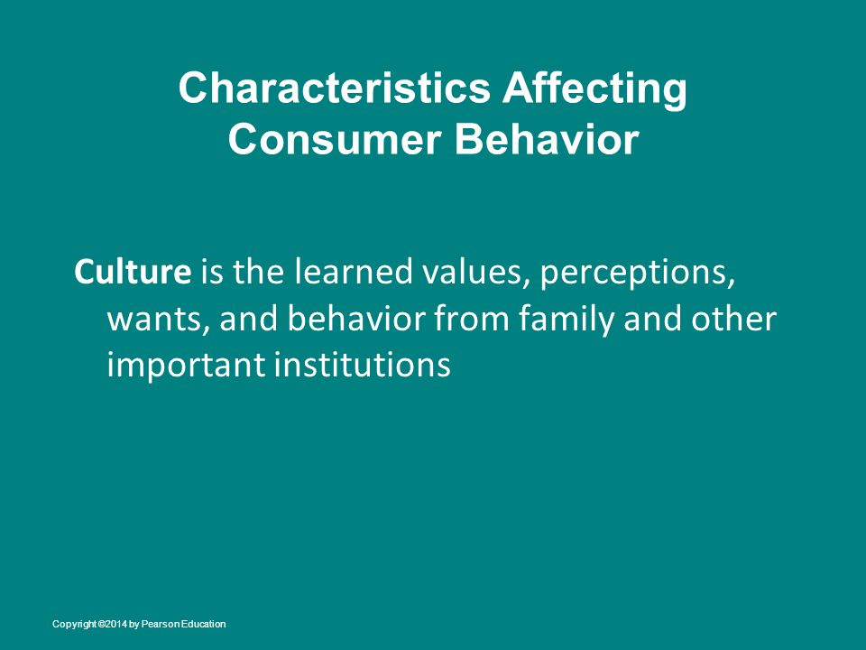 Characteristics Affecting Consumer Behavior