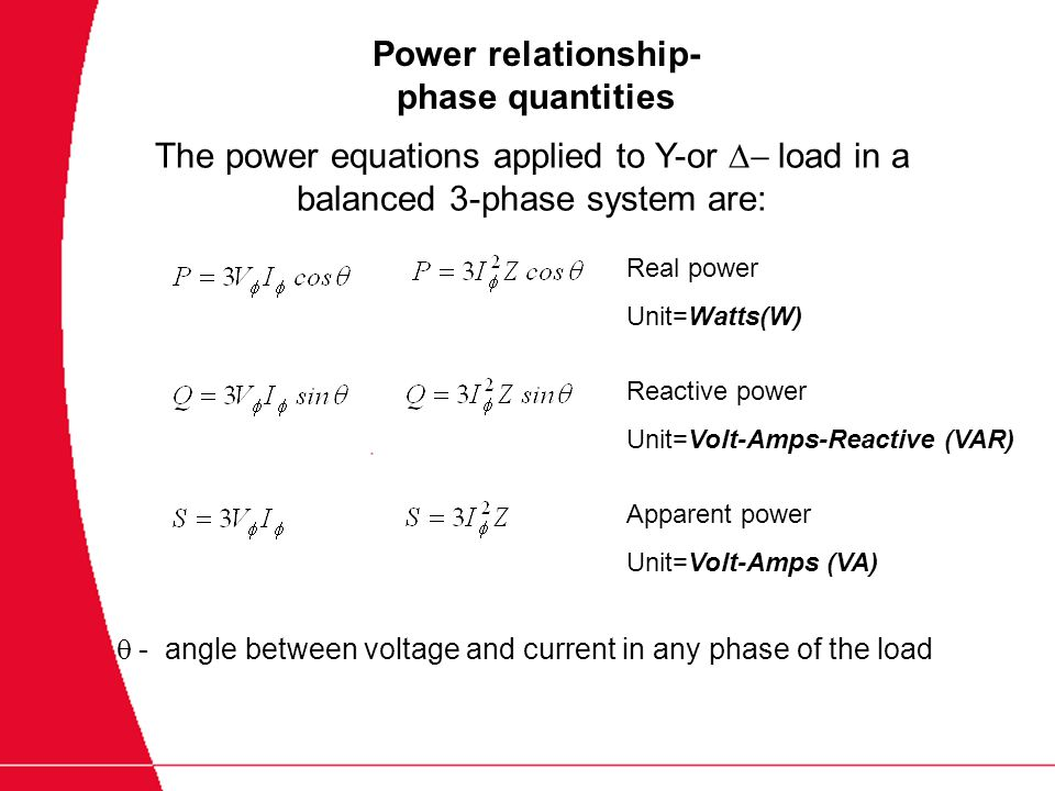 relationship between 3 phase power and single