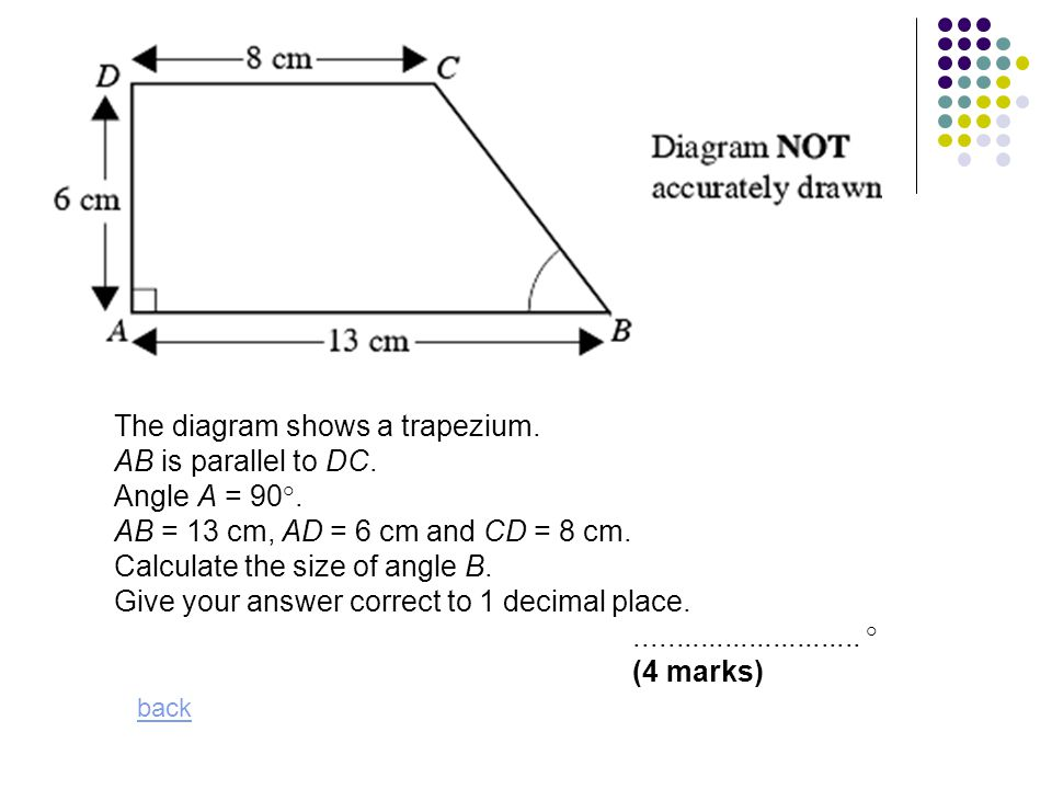 how to find angle of trapezium