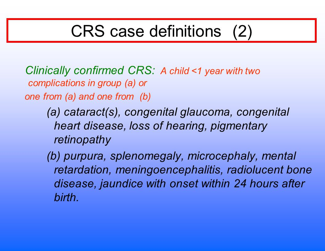 CRS case definitions (2)
