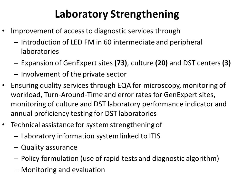 Laboratory Strengthening