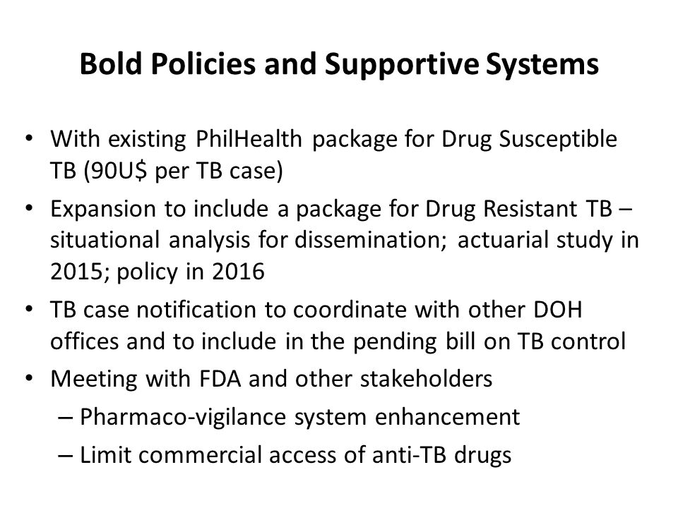 Bold Policies and Supportive Systems