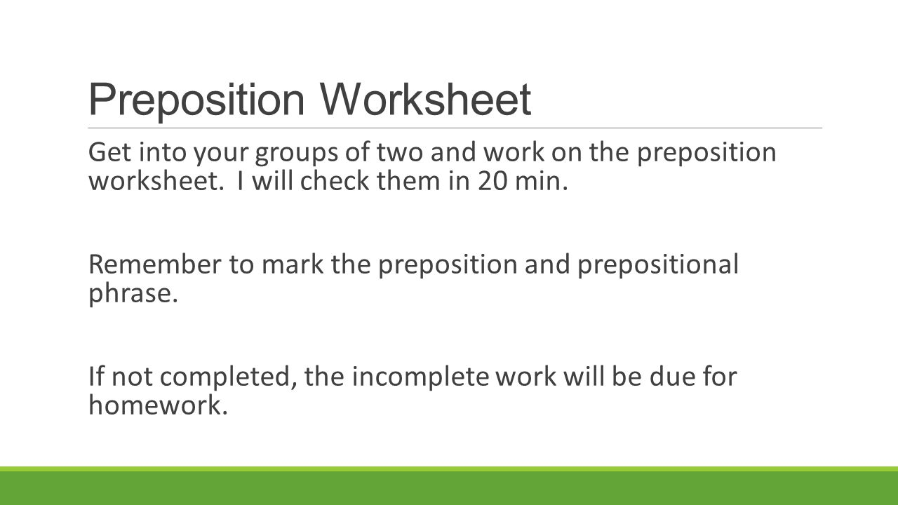 English I Instructor Mr Britt ppt video online download – Prepositional Phrase Worksheet with Answers