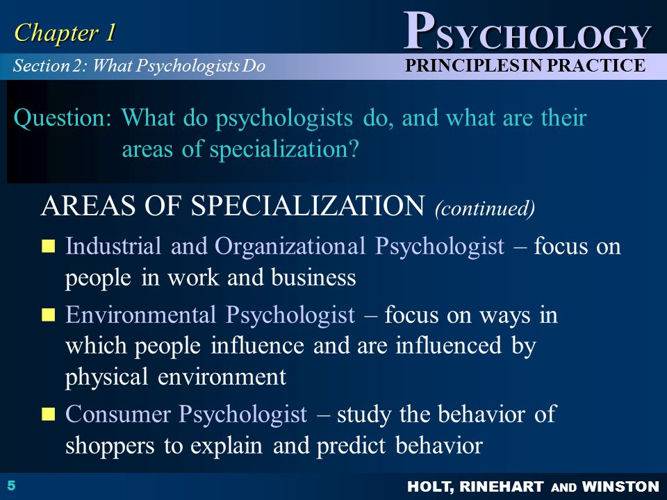areas of specialization in psychology Areas of specialization biological clinical degree completion cognitive & brain sciences developmental psychology, and other areas of psychology and in other departments constitute the academic core of the student's program of study research.