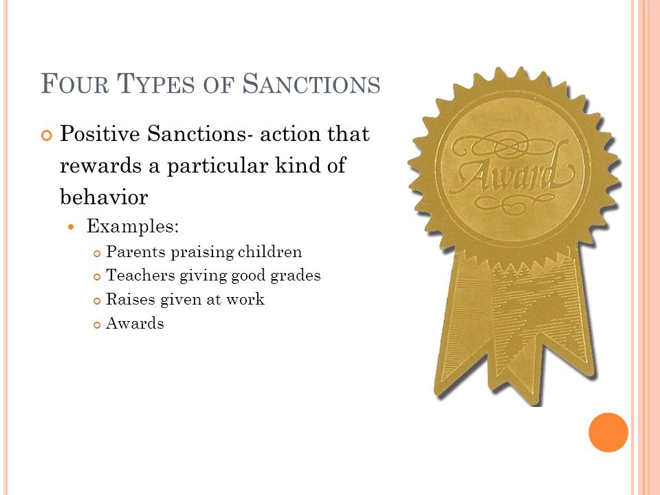 Four Types of Sanctions