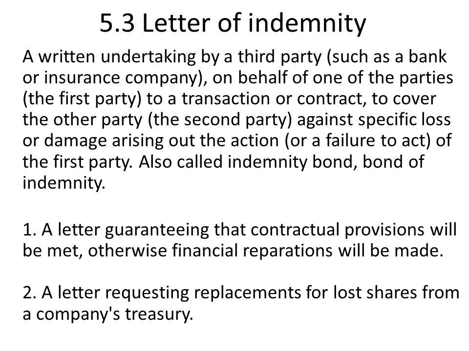 5 notes of protest 51 letter of protest 52 sea protest ppt 53 letter of indemnity altavistaventures Images