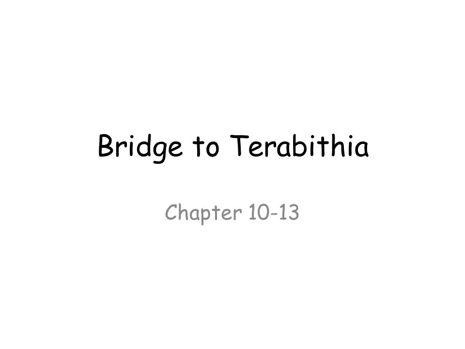 Bridge to Terabithia Chapter ppt video online download – Bridge to Terabithia Worksheets