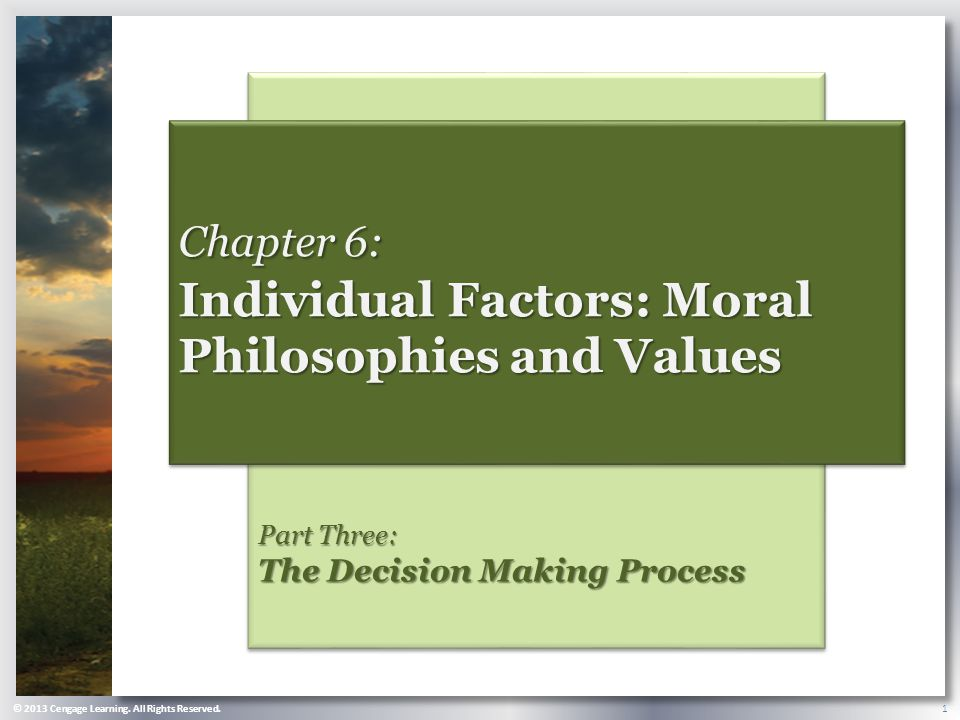 three factors that form individual ethics philosophy essay Ethics are a system of moral principles and a branch of philosophy which defines one form of ethical realism teaches that essays in ethical.