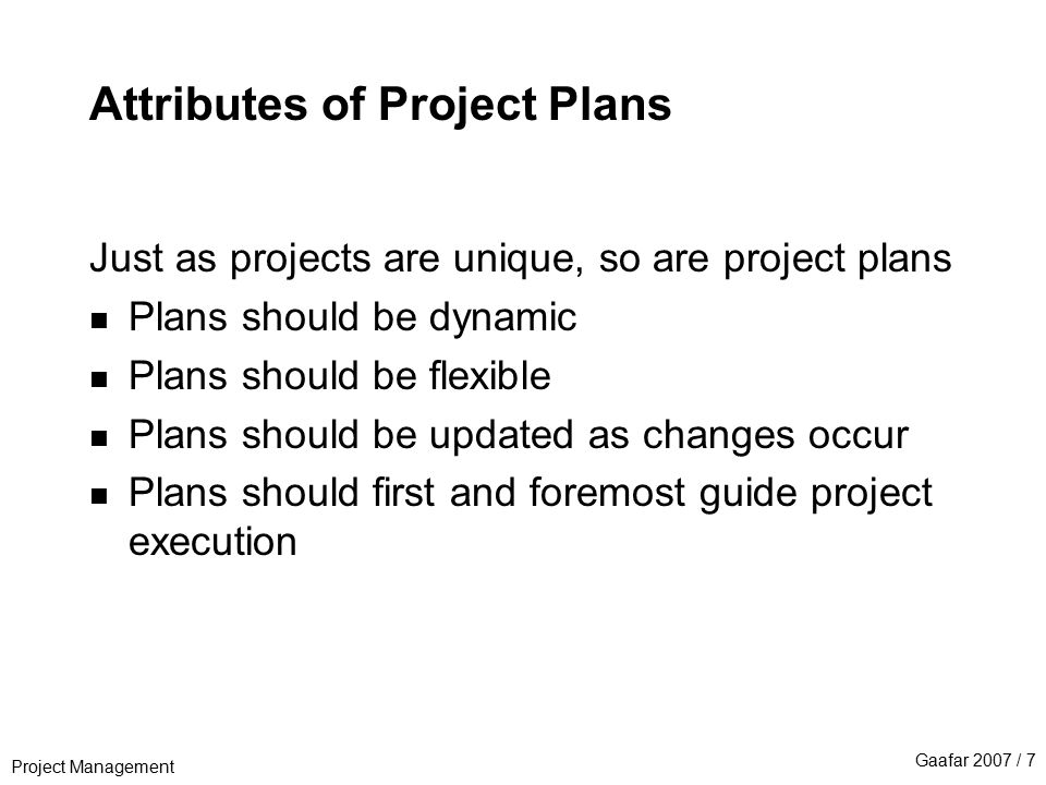 attributes of a project 5 characteristics of a clearly defined project in order for a project to be useful, effective and achieving its full objective, it must be clearly defined.
