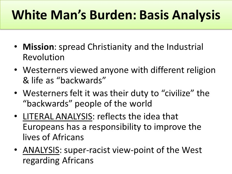 an analysis of the movie white mans burden White man's burden summary of box office results, charts and release information  and related links.