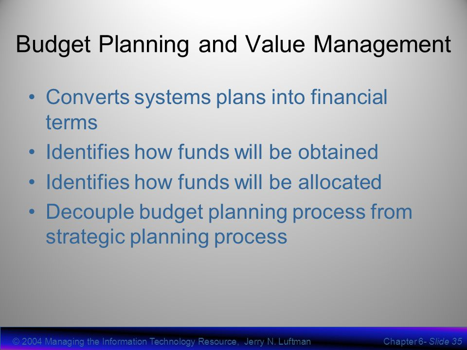 Chapter 6 Planning Related It Processes - Ppt Video Online Download
