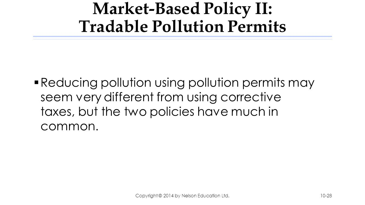 pollution tax and permits to pollute