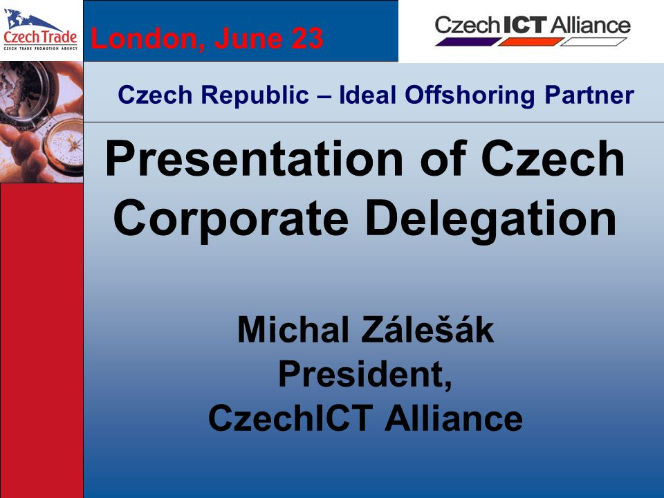 Presentation of Czech Corporate Delegation