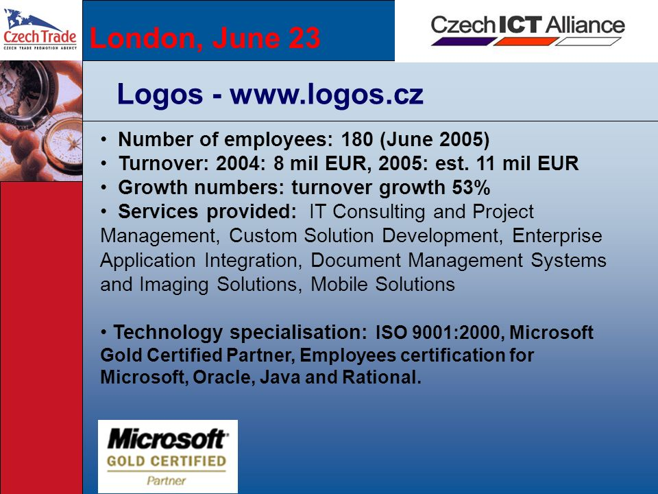 London, June 23 Logos - www.logos.cz