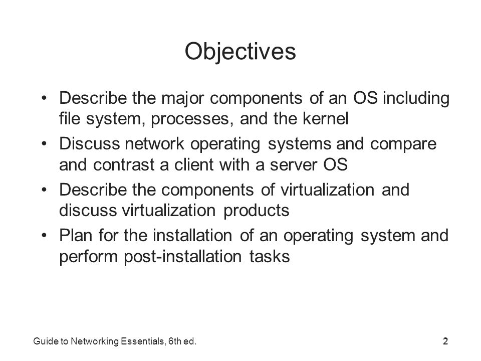 major components of operating system Unix os consists of three main components kernel: kernel is the core of the unix system is it takes each command and passes it to the operating system.