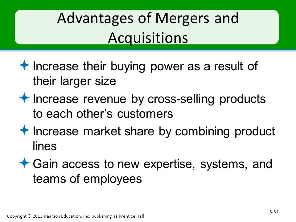 mergers and acquisitions advantages and disadvantages Advantages and disadvantages of mergers and acquisitions (m&a) are determined by the shortterm and long-term company strategic outlook of the new and acquiring companies.