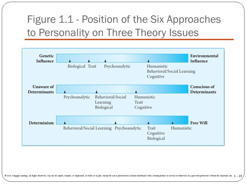 Figure Position of the Six Approaches to Personality on Three Theory Issues