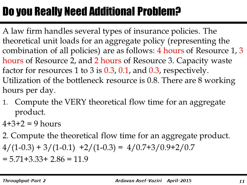 Do you Really Need Additional Problem