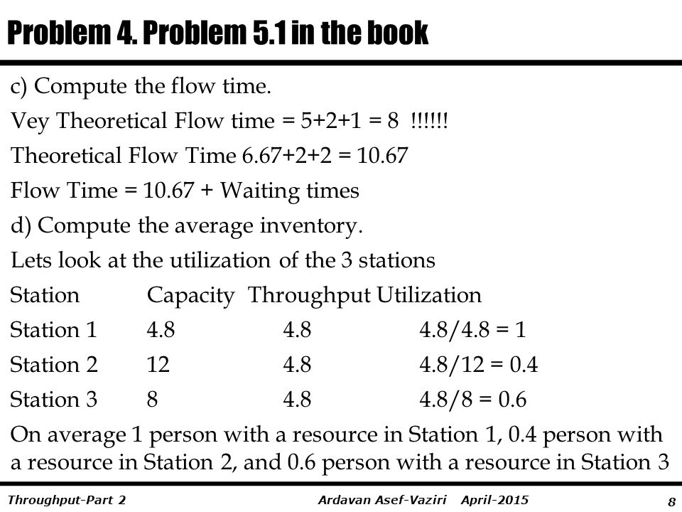 Problem 4. Problem 5.1 in the book