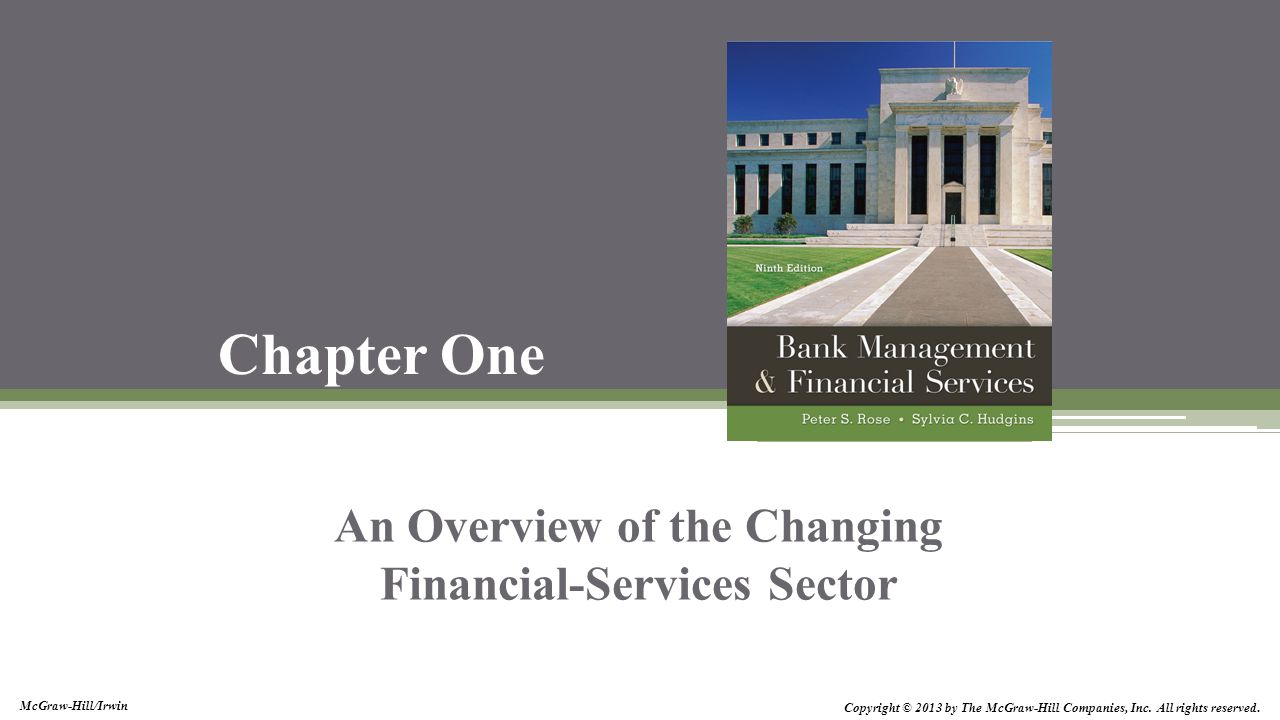 An Overview of the Changing Financial-Services Sector