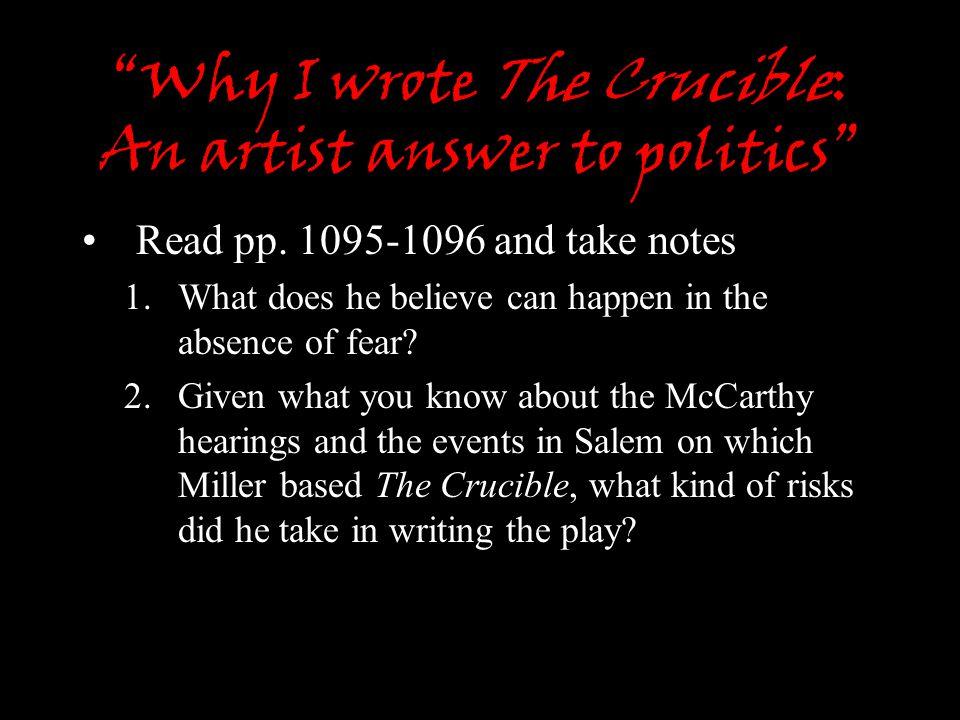 why i wrote the crucible pdf