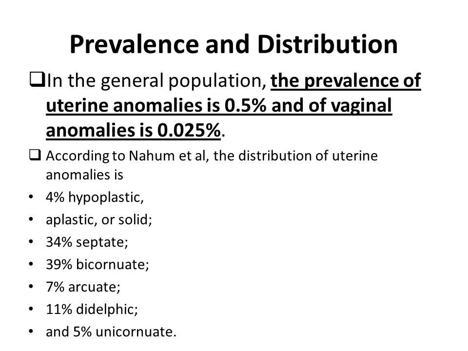 Prevalence and Distribution