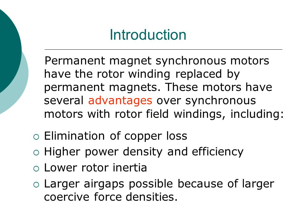 permanent magnet synchronous generator thesis The thesis is to focus on direct driven permanent magnet synchronous generators (pmsg) with diode rectifiers for use in offshore wind turbines reactive compensation of the generator, power.