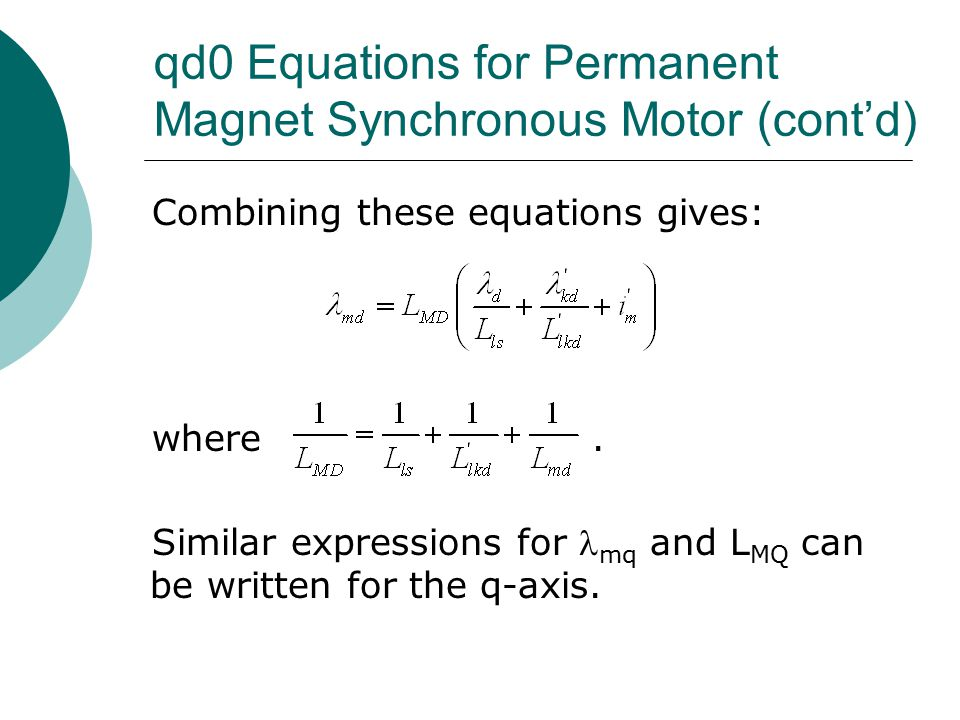 permanent magnet synchronous motor thesis There are many different electrical motors, but this thesis and the course that   synchronous permanent magnet and reluctance motors.