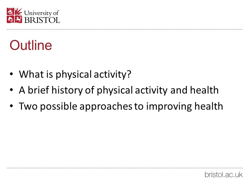 physical activity phiosophy outline Health & physical education philosophy statement a to provide students with the knowledge and skills to value and apply physical activity and its benefits.