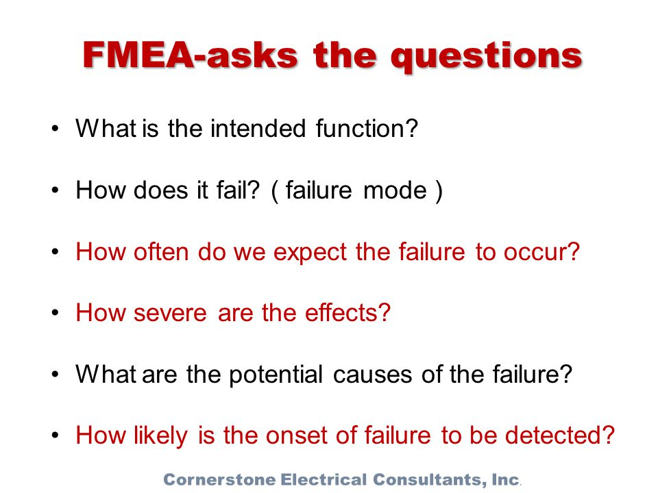 FMEA-asks the questions