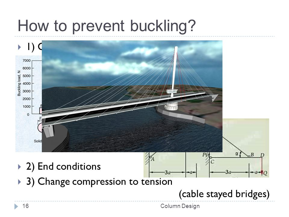 How to prevent buckling