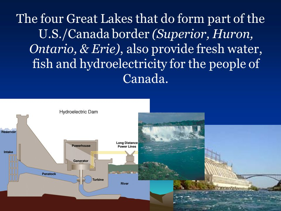 The four Great Lakes that do form part of the U. S