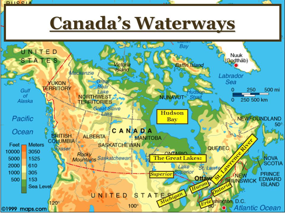 Canada's Waterways Hudson Bay St. Lawrence River The Great Lakes: