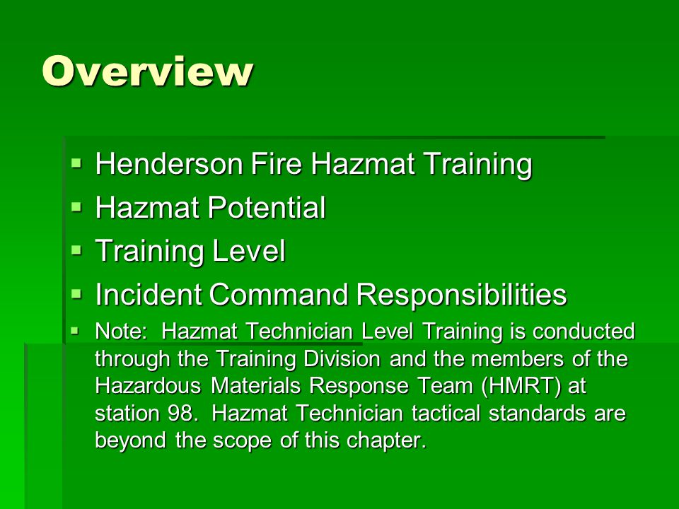 Hazardous Materials Response Ppt Download